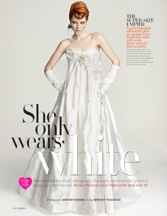 Brides Magazine – White Hot Hope