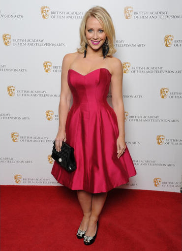 Laura Hamilton wearing Sofia at the Baftas