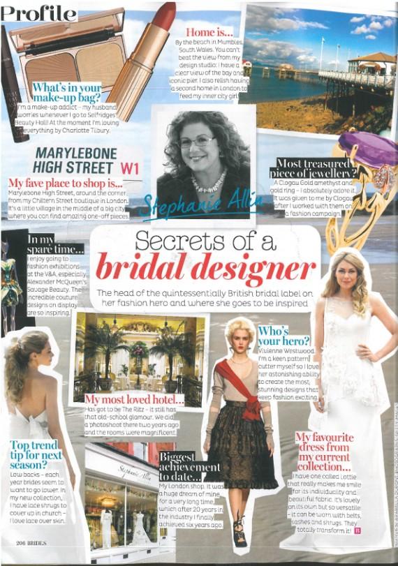 Brides Mag Sept 15 Secrets of a bridal designer