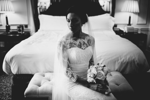 wedding dress by stephanie allin