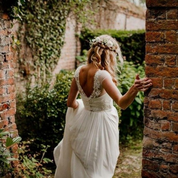 Real Bride Wedding dress by Stephanie Allin Couture